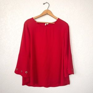 Cato Metal Ring Blouse
